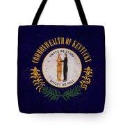 Flag Of Kentucky Grunge Tote Bag