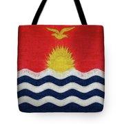 Flag Of Kiribati Texture Tote Bag