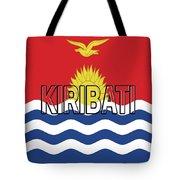 Flag Of Kiribati Word Tote Bag