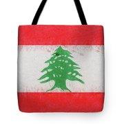 Flag Of Lebanon Grunge Tote Bag