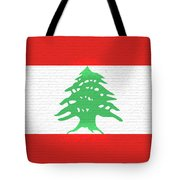Flag Of Lebanon Wall Tote Bag