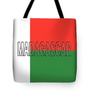 Flag Of Madagascar Word Tote Bag