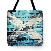 flag of Scotland painted on old brick wall Tote Bag