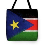 Flag Of  South Sudan Grunge Tote Bag