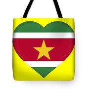 Flag Of Suriname Heart  Tote Bag