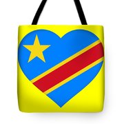 Flag Of The Congo Heart Tote Bag