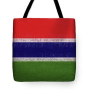 Flag Of The Gambia Grunge. Tote Bag