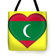 Flag Of The Maldives Heart Tote Bag