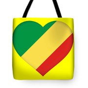 Flag Of The Republic Of The Congo Heart Tote Bag