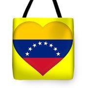 Flag Of Venezuela Heart  Tote Bag