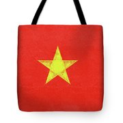Flag Of Vietnam Grunge Tote Bag