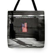 Flag On A Wentworth Barn  Tote Bag
