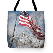 Flag Over Spokane Pavilion Tote Bag