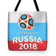 Flag Russia World Cup Tote Bag