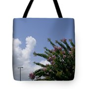 Flag With Pink Flowers Tote Bag