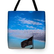 Flag With The Clouds Tote Bag