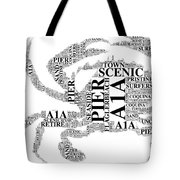 Flagler Beach Crab Art Tote Bag
