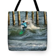 Flagler Beach Surf Day Tote Bag