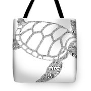 Flagler Beach Word Art Tote Bag