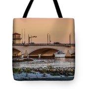 Flagler Bridge In The Evening IIi Tote Bag