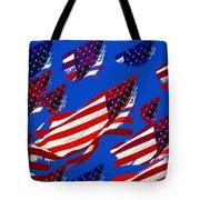 Flags American Tote Bag