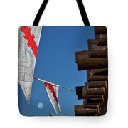 Flags At The Palace Of Governors Tote Bag