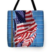 Flags Flying Tote Bag