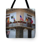 Flags On A Balcony Tote Bag