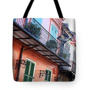 Flags On The Balcony Tote Bag