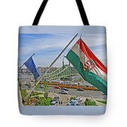 Flags Over Budapest Tote Bag