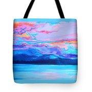 Flagstaff Lake Winter Sunset Tote Bag