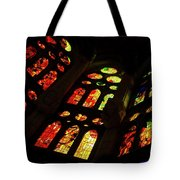 Flamboyant Stained Glass Window Tote Bag
