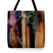 Flame Flower And Bamboo Tote Bag