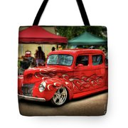 Flame Hot Truck Tote Bag