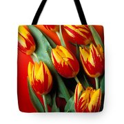 Flame Tulips Tote Bag by Garry Gay
