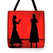 Flamenco Red An Black Spanish Passion For Dance And Rithm Tote Bag