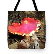 Flamenco Mushroom In Red Tote Bag