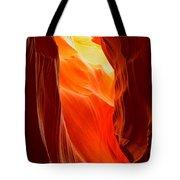 Flames At Upper Antelope Tote Bag