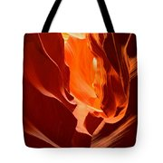 Flames In The Walls Of Antelope Tote Bag