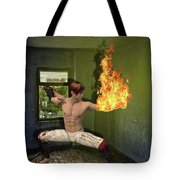Flames Of Desire Tote Bag