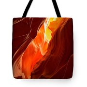 Flames Under Arizona  Tote Bag