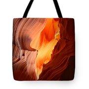 Flames Under The Arizona Desert Tote Bag