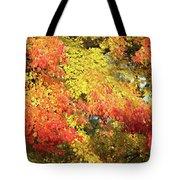 Flaming Autumn Leaves Art Tote Bag