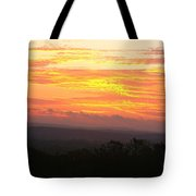 Flaming Autumn Sunrise Tote Bag