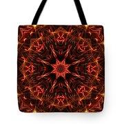 Flaming Catherine Wheel Tote Bag
