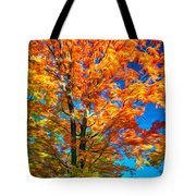 Flaming Maple - Paint Tote Bag