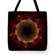 Flaming Night Flower Tote Bag