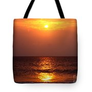 Flaming Sunrise Tote Bag