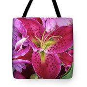 Flaming Tiger Lily Tote Bag