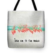 Flamingo Art II Tote Bag